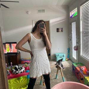 Chanel white knit dress